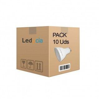 Pack de 10 bombillas led gu10 7W