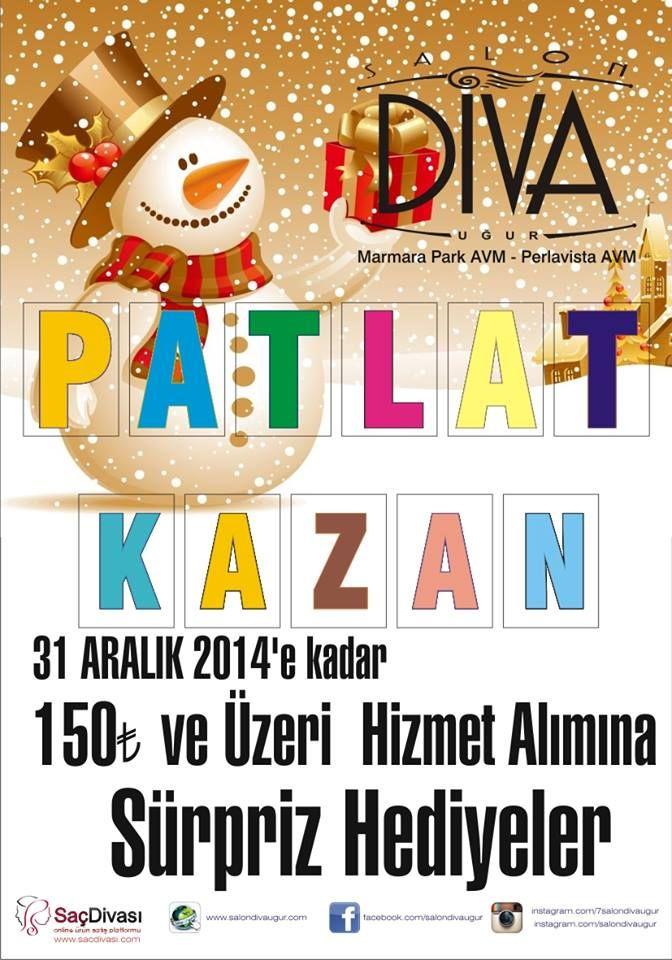 31 Aralık tarihine kadar #MarmaraPark Salon Diva Uğur'da 150 TL ve üzeri hizmet alımına sürpriz hediyeler bekliyor.