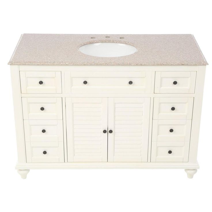Home decorators collection hamilton 49 5 in w x 22 in d for Home decorators vanity