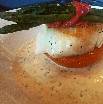 Chef Life: My Chef Life: Seared Sea Bass atop a Roasted Peppe...