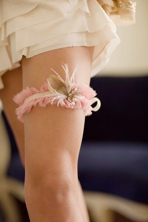 Much prettier than most garters.  I'd want a light blue one.