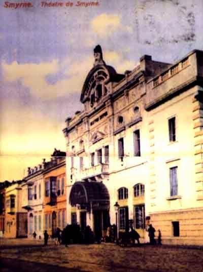 Το ξακουστό και επιβλητικό θέατρο της Σμύρνης. The famous Theater of Smyrna, before its destruction by the Turkish Mongols in September 1922.