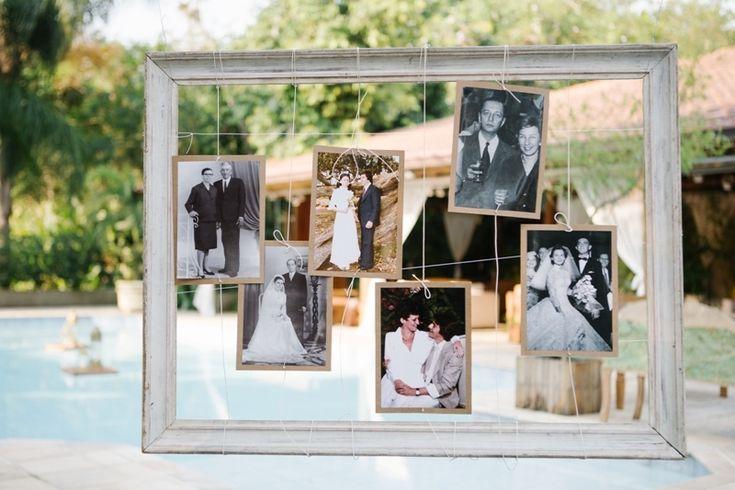 Fotos da família na decoração do casamento - foto The Kreulichs