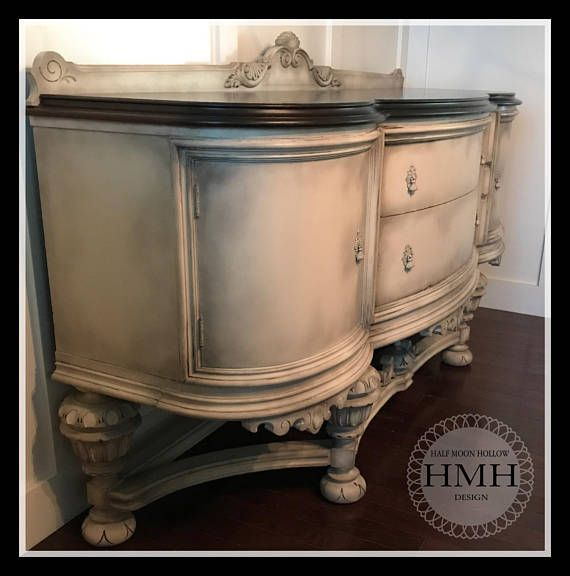 50 Cool And Creative Shabby Chic Dining Rooms: SOLD!!! Antique French Country Buffet Jacobean Hand