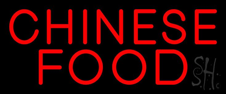 Red Chinese Food Neon Sign 10 Tall x 24 Wide x 3 Deep, is 100% Handcrafted with Real Glass Tube Neon Sign. !!! Made in USA !!!  Colors on the sign are Red. Red Chinese Food Neon Sign is high impact, eye catching, real glass tube neon sign. This characteristic glow can attract customers like nothing else, virtually burning your identity into the minds of potential and future customers. Red Chinese Food Neon Sign can be left on 24 hours a day, seven days a week, 365 days a year...for decades…