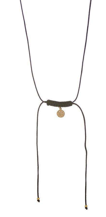 Χειροποίητο κολιέ με στοιχείο από επιχρυσωμένο ασήμι με πέτρες ζιργκόν #moda #style #sales