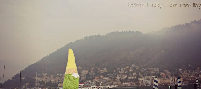 Angus the gnome travels! Lake Como, Italy