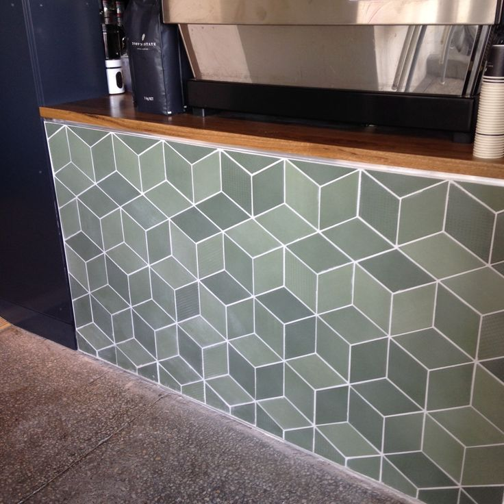 Restaurant wall featuring feature tiles