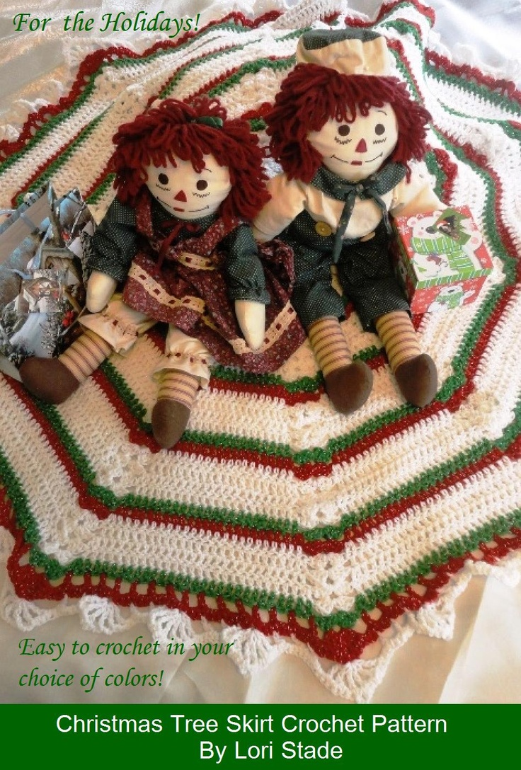 12 best crochet tree skirts images on Pinterest | Crochet christmas ...