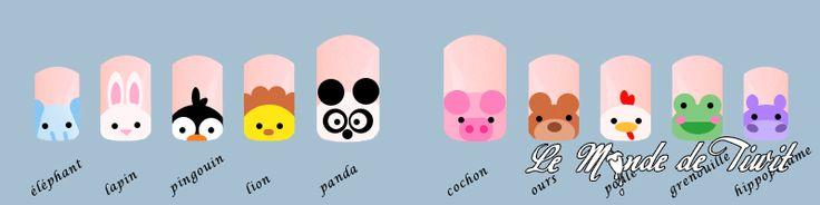 Tuto nail art animaux le monde de tiwit 5 vernis - Tuto nail art debutant ...