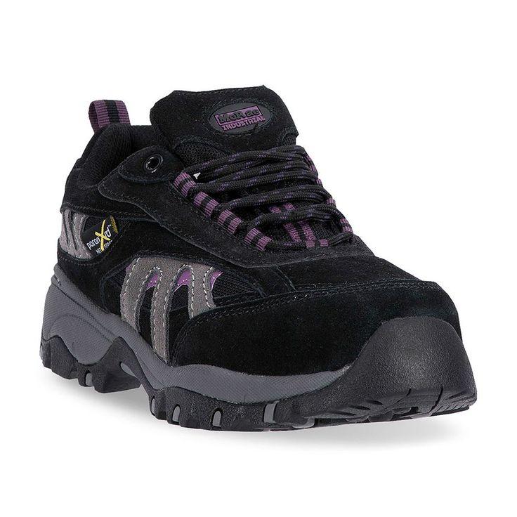 McRae Industrial Women's Steel-Toe Metatarsal Guard Mid Hiking Shoes, Size: medium (6.5), Black