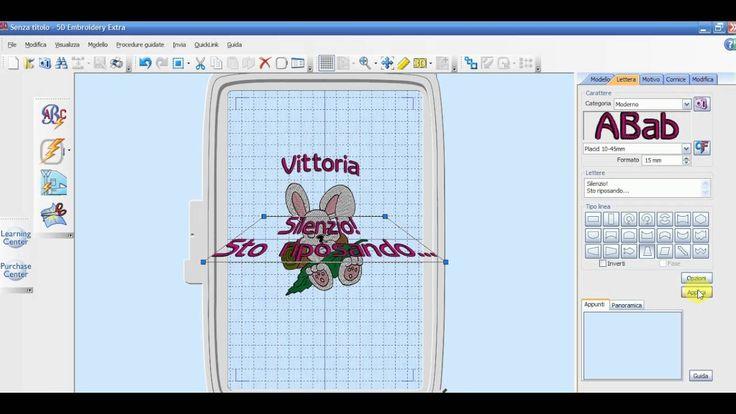 Creare scritte con il 5D Embroidery