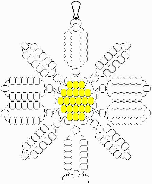Daisy flower pony beads pattern