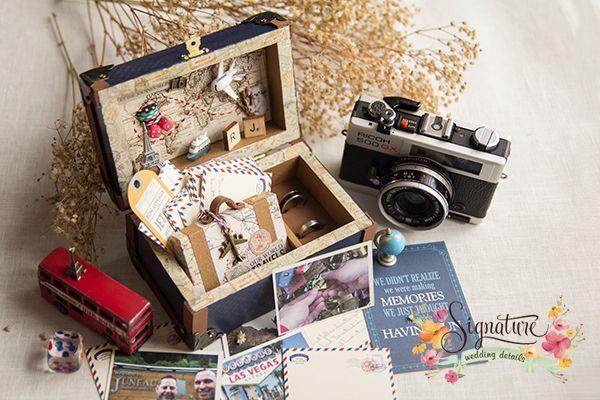 travel themed Wedding Ring Box