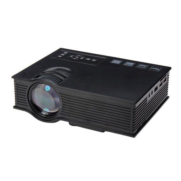UC40+ Mini LED Projector Black Home Cinema HD 800LM AV HDMI USB SD