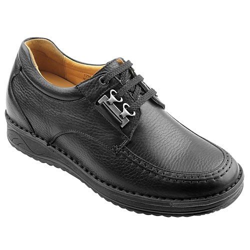 height increasing 7cm black men\u0027s elevator casual shoes cow leather cheap  wholesale