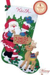 Santa's Toys bucilla stocking kit thumb