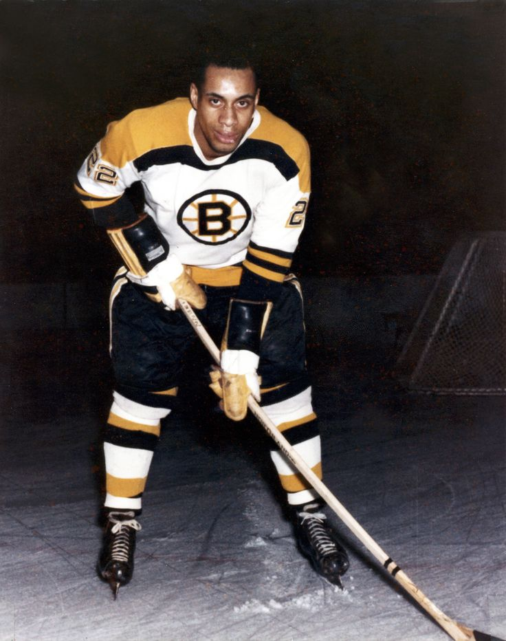 Image result for who was the first african american to play in the NHL?