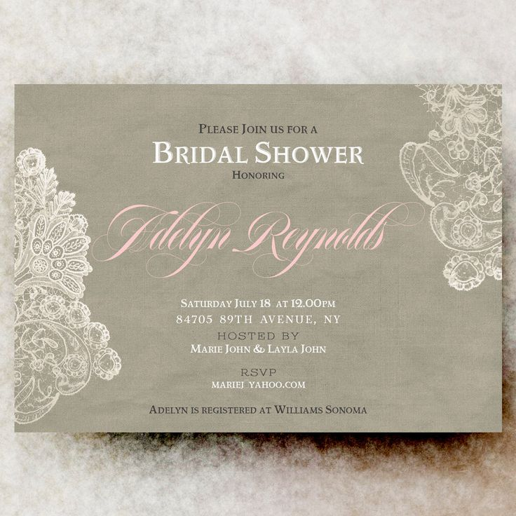 simple diy bridal shower invitations%0A Bridal Shower Invitation  Rustic bridal shower  lace bridal shower  blush bridal  shower