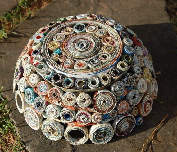 25 best ideas about magazine bowl on pinterest recycled for Rolled magazine paper crafts