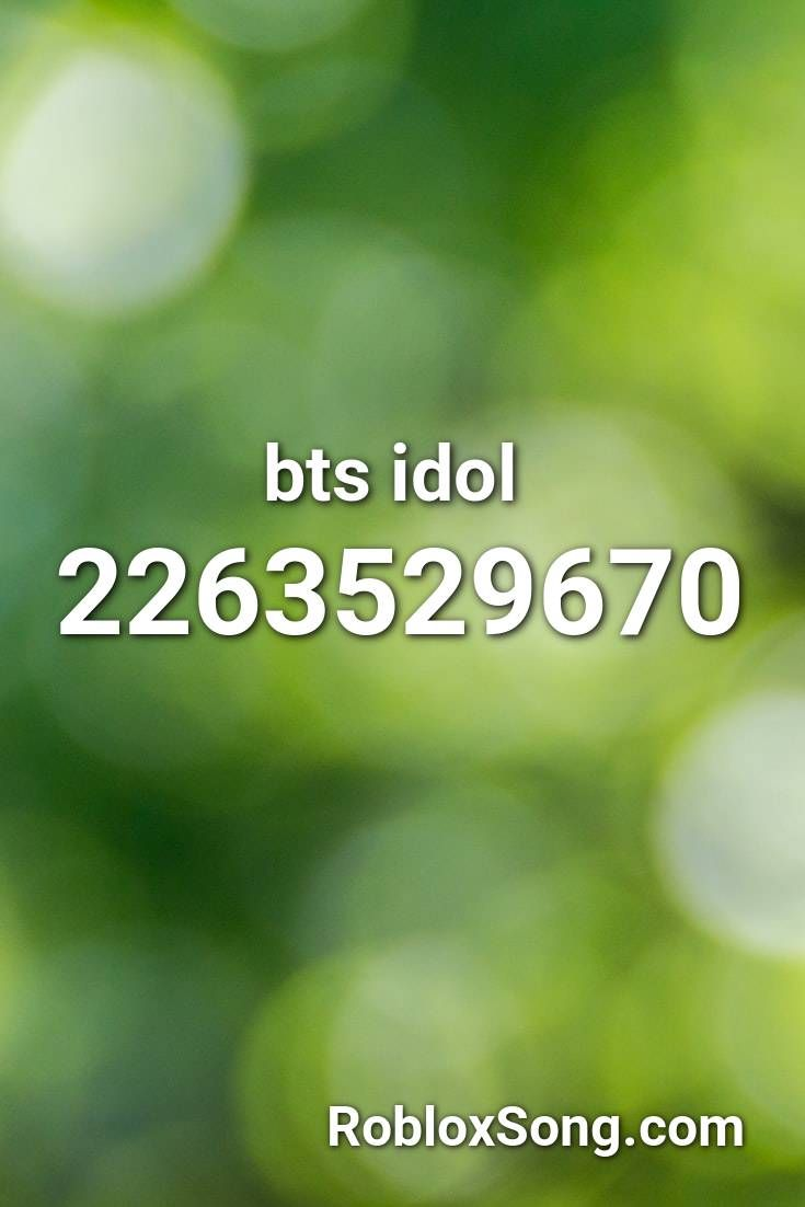 Bts Idol Roblox Id Roblox Music Codes In 2020 Songs Roblox Idol