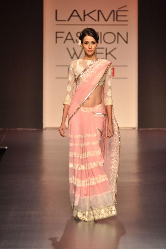 Sweet, Vintage Pink. ❤️ it! Need it! Must have it! Manish Malhotra Lakme Fashion Week Spring