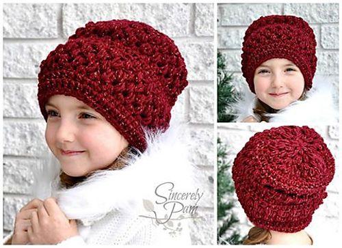 Crochet Emma Slouch Hat Pattern