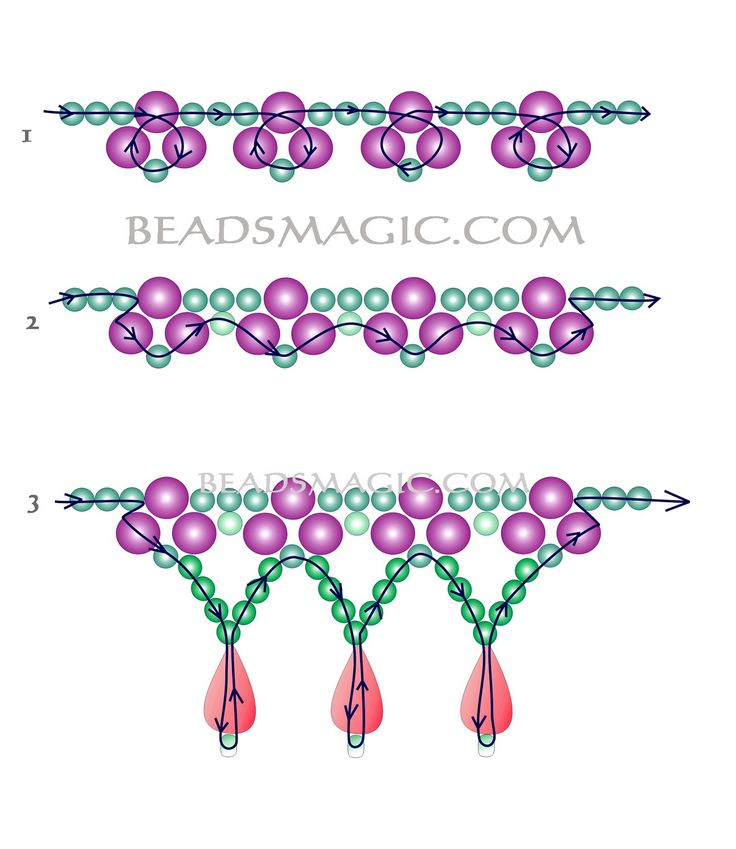 Free pattern for bridal necklace Monica - 2