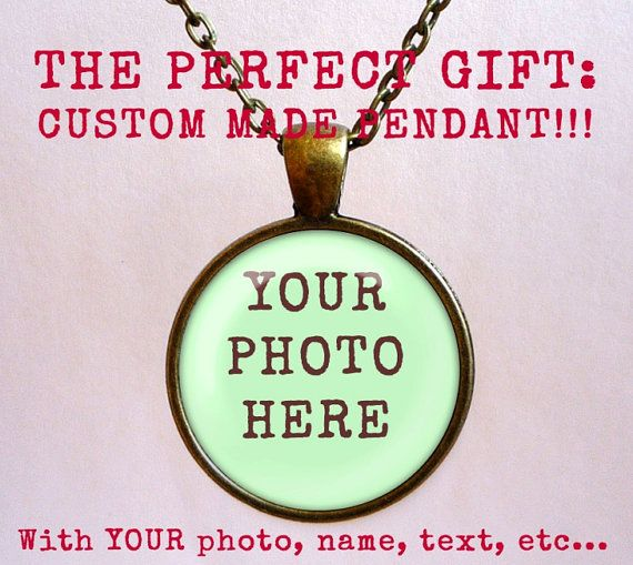 CUSTOM PHOTO Pendant! Personalized necklace. Handmade jewelry with chain.