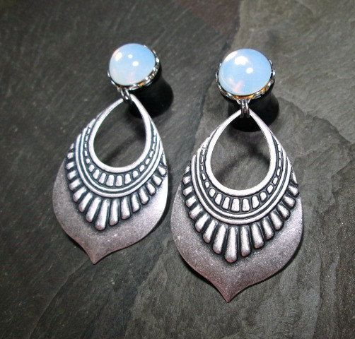 Dangle Plugs 00g 10mm 1 2 12mm Gothic Tribal Wedding Gauges Bridal Plug Earrings Accessories Make The