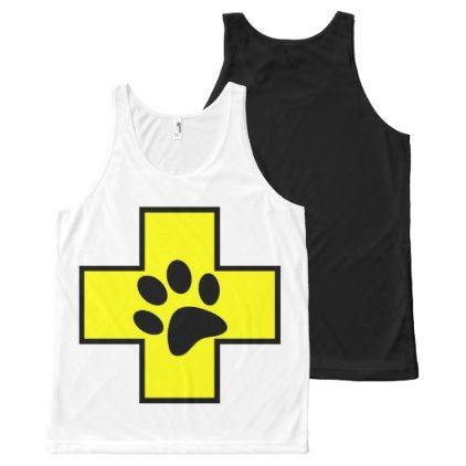 animal help cross veterinary symbol sign doctor pe All-Over-Print tank top - animal gift ideas animals and pets diy customize