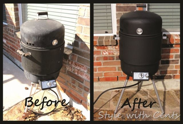 How to restore your disgusting BBQ grill or smoker ... instead of replacing it. Only a couple bucks with high heat spray paint. Winning!