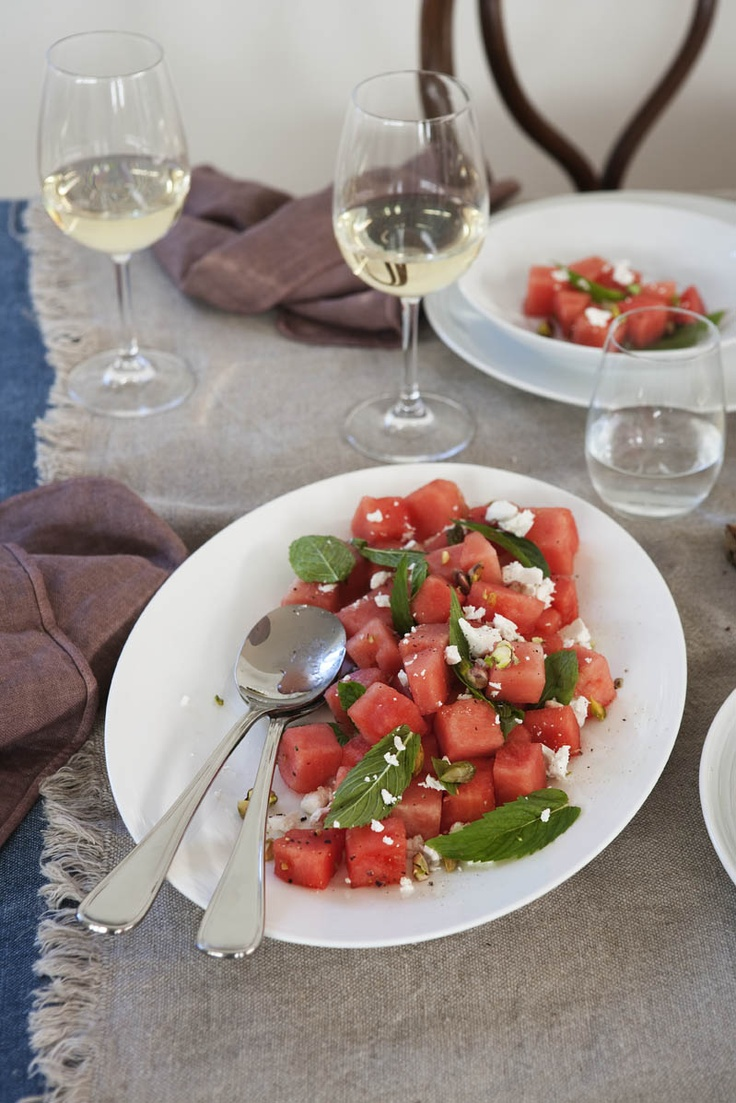 watermelon salad #watermelon  http://www.grandcucina.com/