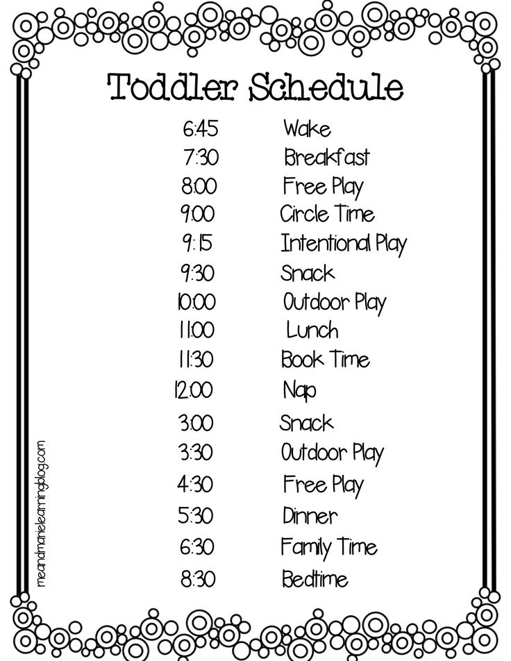 Toddlers can be unpredictable- understatement huh? That is why impletmenting some sort of toddler schedule is important.