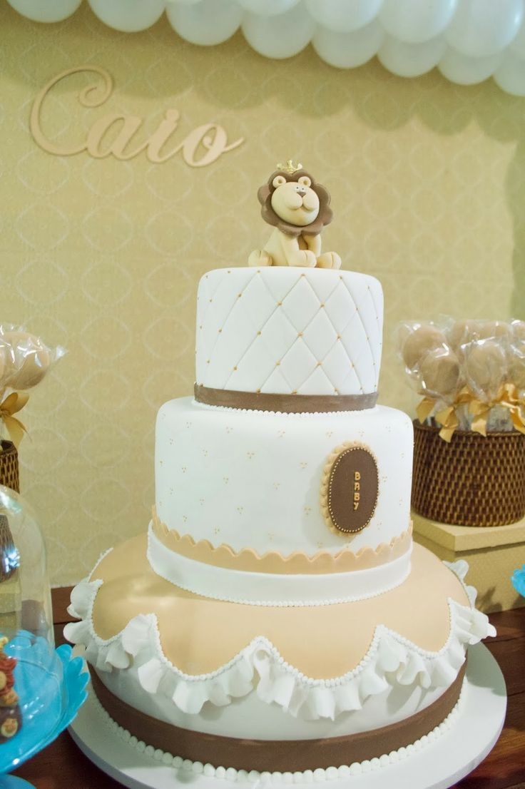 Doce Eve Ateliê   decoração - docinhos - mimos: Leãozinho Rei! Chá de bebê do Caio.