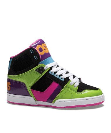 Take a look at this Green & Black NYC 83 Slim Hi-Top Sneaker - Kids by  Osiris Shoes on today!