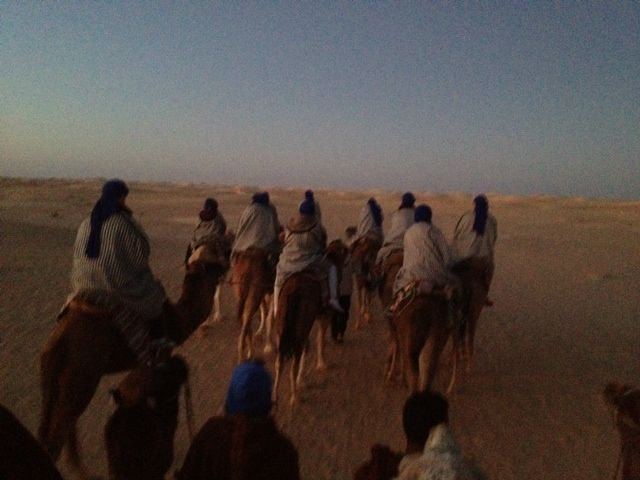 On the Sahara Desert! 5 am! Sunrise to follow!