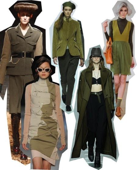 Army Green. London Fashion Week trends autumn/winter 2012