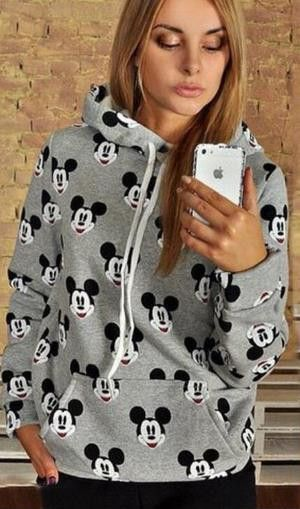 Hoodies are always is most love of young people,this cloth is printed with Mickey Mouse,which is very popular cartoon character,you can wear it to do some sports and you can also wear it at your daily