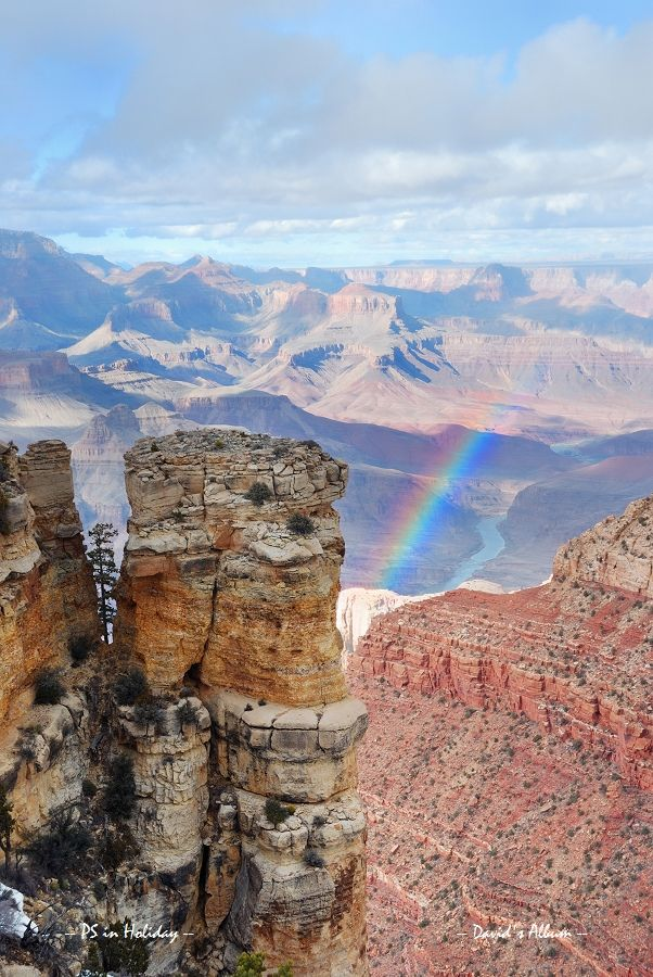 ☀Grand Canyon panorama view in winter with snow by Songquan Deng*