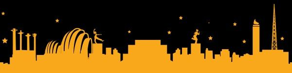 Kansas City skyline.  This would make a pretty sick tattoo.  Just not gold.