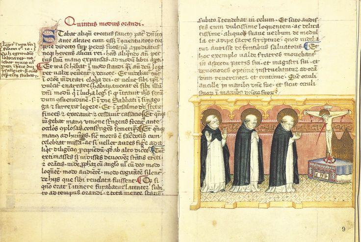 Modi Orandi Sancti Dominici, 5: avec les mains, codex rossianus 3, 1450, bibliothèque vaticane,