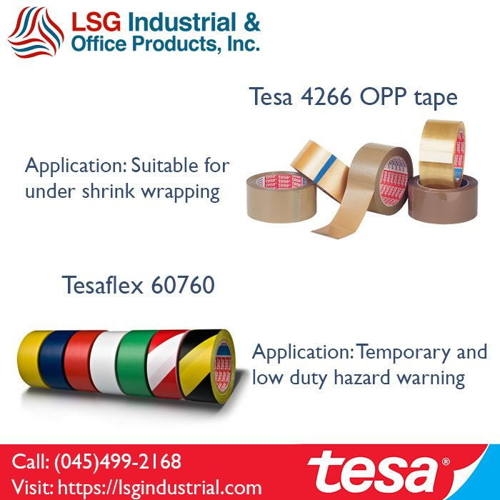 LSG Industrial & Office Products Inc. offers wide range of tesa tapes within the Philippines. Call (045)499-2168 for inquiries! #tesa #adhesives #tapes #lsgindustrial
