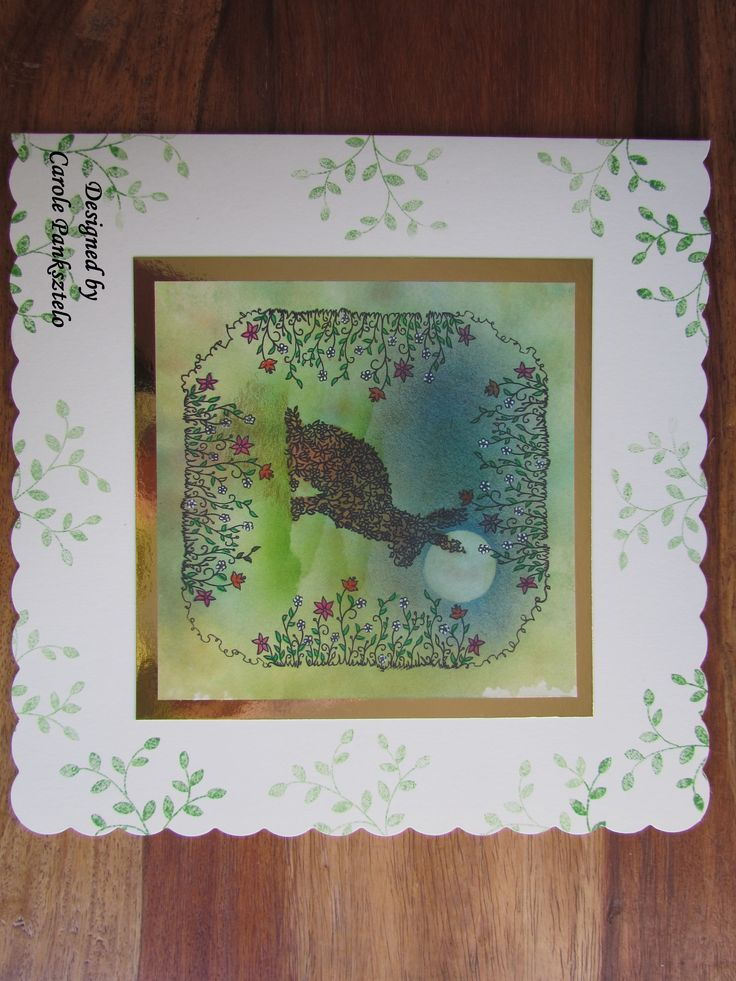 Made today 11th Jan 2015 using the new floral stamps from ClarityStamps UK