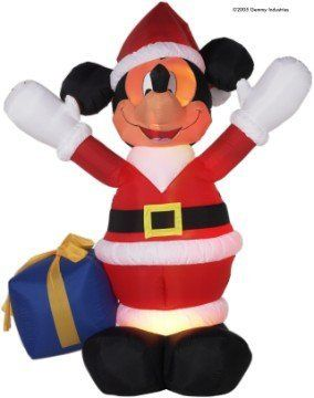 Airblown Inflatable 6 Ft Tall Mickey Santa by Gemmy. $179.99
