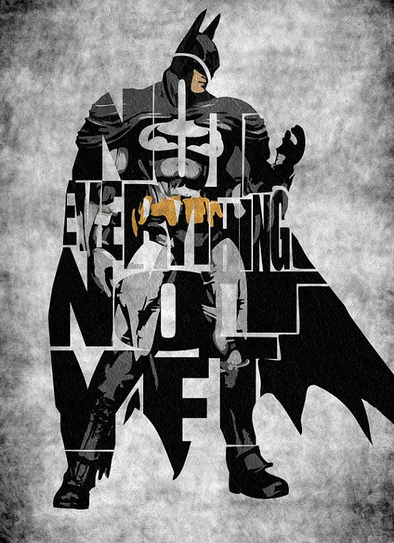 Batman Inspired Poster   Minimalist The Dark Knight by GeekMyWalL, $25.00