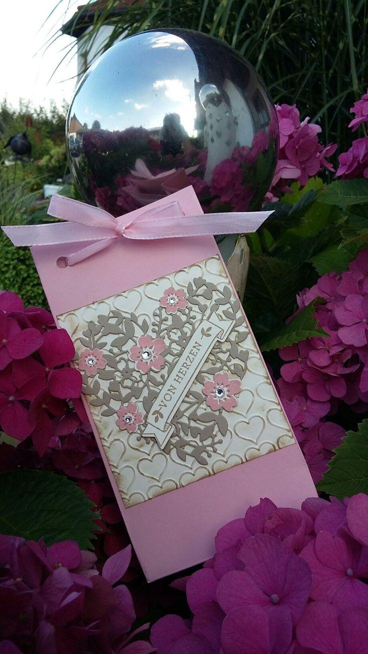 ❤mitLiebegmacht❤ - Geschenktüte, SU 2016/17, Blühendes Herz, Blüten der Liebe…