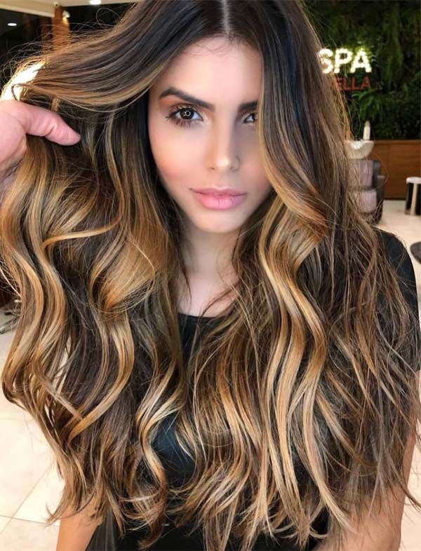 Best of Balayage Butentte Hair Colors for Long Hair Looks