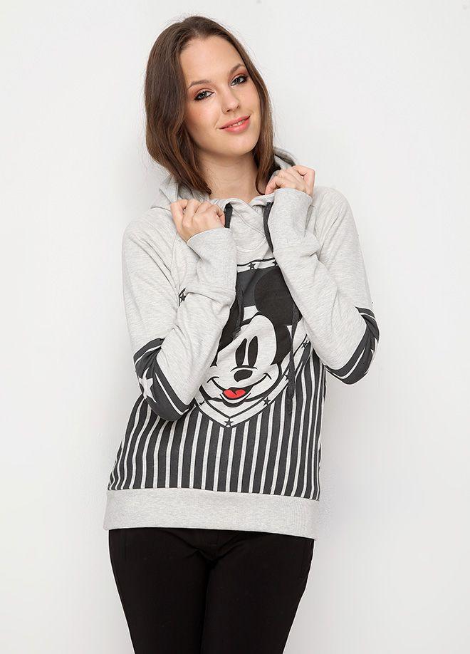KAKAO Mickey Baskılı Kapüşonlu Sweatshirt Markafoni'de 75,00 TL yerine 29,99 TL! Satın almak için: http://www.markafoni.com/product/5589857/ #kazak #sweatshirt #winter #fashion #moda #white #beyaz #duck #tweety #sweet #mickey #mickeymouse