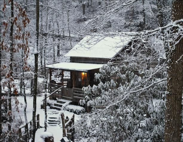 Cozy cabin in the woods, with a good book, a fire going and some chili in the crock pot!!  Ahhh...